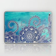 Mermaid's Garden - Navy … Laptop & iPad Skin