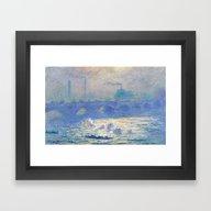 Framed Art Print featuring Waterloo Bridge, Sunligh… by Palazzo Art Gallery