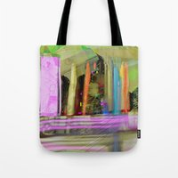 Color Spikes Tote Bag