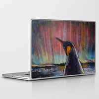 penguin Laptop & iPad Skins featuring Aurora Penguin by Michael Creese