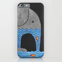 iPhone Cases featuring Thirsty Elephant  by Terry Fan