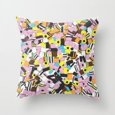 Lots of Liquorice Allsorts Throw Pillow