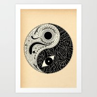 - yin & yang - [collaborative art with famenxt] Art Print