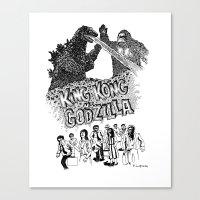 Godzilla .vs. King Kong Canvas Print