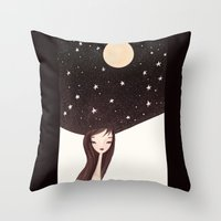 night hat Throw Pillow