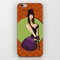 Hat Girl iPhone & iPod Skin