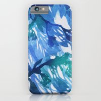 iPhone & iPod Case featuring Morning Blossoms 2 - Blue Variation by Claire Astra