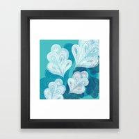 Falling Feathers  Framed Art Print