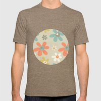 flowers pattern Mens Fitted Tee Tri-Coffee SMALL