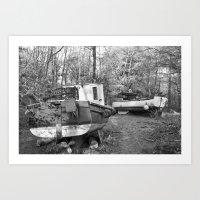 Abandoned Fishing Boats Art Print