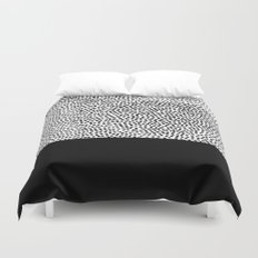 Dots and Black Duvet Cover