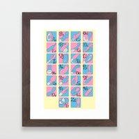 Vibrator Alphabet Framed Art Print