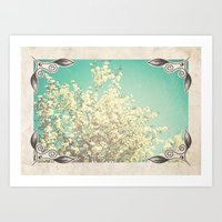 Framed Floral Art Print