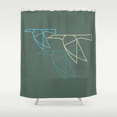 Mid-Century Style Ducks Shower Curtain