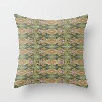 Southwest Victorian Glitch Throw Pillow