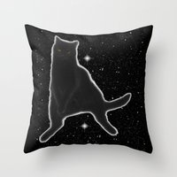 Kiki Kitty Cat In Outer … Throw Pillow