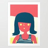 Self-portrait Waiting Fo… Art Print