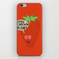 Strawberry Fields iPhone & iPod Skin