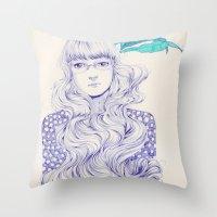 Flowery 02 Throw Pillow