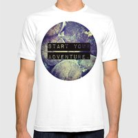 Start Your Adventure Mens Fitted Tee White SMALL