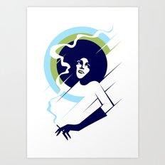 Retropolitan (cool) Art Print