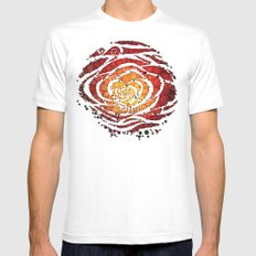Rose Water SMALL White Mens Fitted Tee