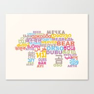 BEAR_in Writing Systems … Canvas Print