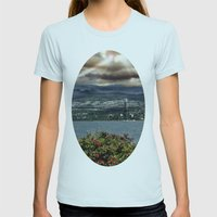 Bridge Near Vancouver Womens Fitted Tee Light Blue SMALL