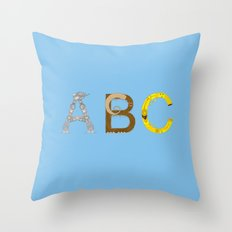 mAY BEE SEE be with you! (blue) Throw Pillow