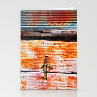 Abstract rusty garage door detail Stationery Cards