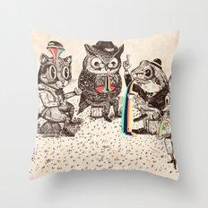 Strange Animals Throw Pillow