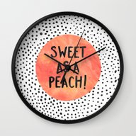 Sweet As A Peach! Wall Clock