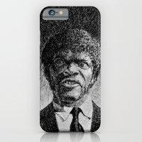 iPhone & iPod Case featuring Jules Winnfield Portrait - Fingerprint - Samuel L. Jackson - Pulp Fiction by Nicolas Jolly