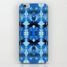 Watercolor Ikat Blue Borders iPhone & iPod Skin