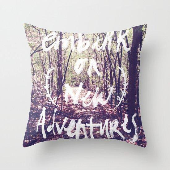 New Adventures Throw Pillow