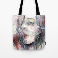 Sleepy Violet, Watercolo… Tote Bag