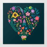 Floral Heart Canvas Print