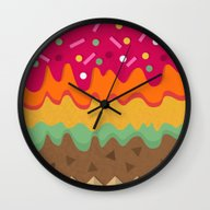 Wall Clock featuring Delight by Kakel
