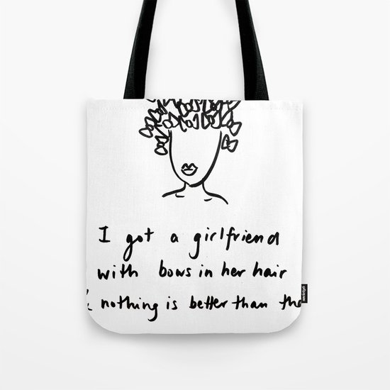 girlfriend is better Tote Bag