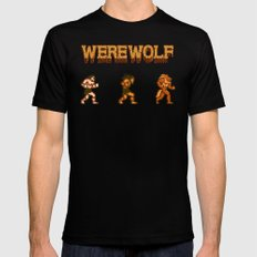 Unleash the beast- werewolf tribute SMALL Black Mens Fitted Tee