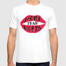 More Than Words Mens Fitted Tee White SMALL