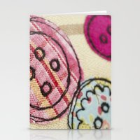 Embroidered Buttons Stationery Cards