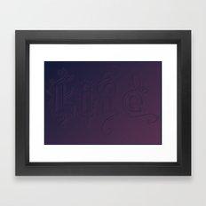 Purple Life Framed Art Print