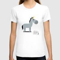 unicorn T-shirts featuring Unicorn by Jean-Sébastien  Deheeger