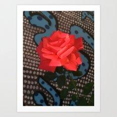 Comic Rose Art Print
