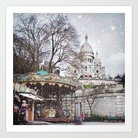 Paris, Montmartre Art Print
