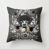 Rock-Man Throw Pillow