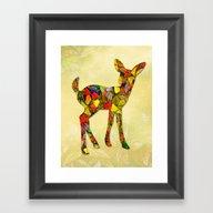 Animal Mosaic - The Fawn Framed Art Print