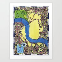 Tiny Underdog City Map Art Print
