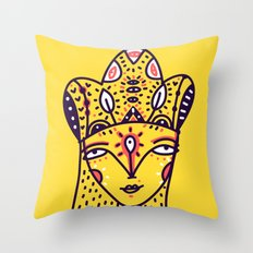 Mustard Queen Throw Pillow